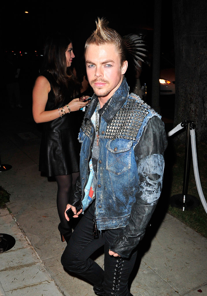Derek Hough looked like he was shooting for Billy Idol at the Casamigos Halloween Party.