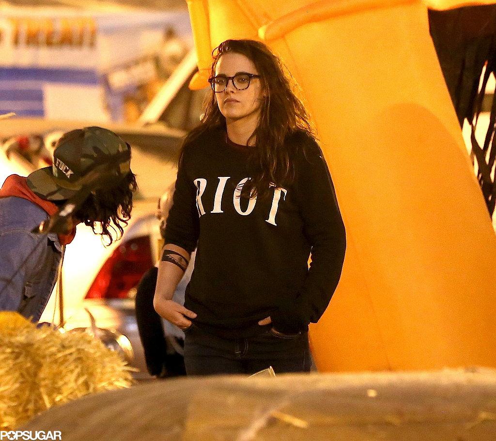 Kristen Stewart Gets Into the Halloween Spirit