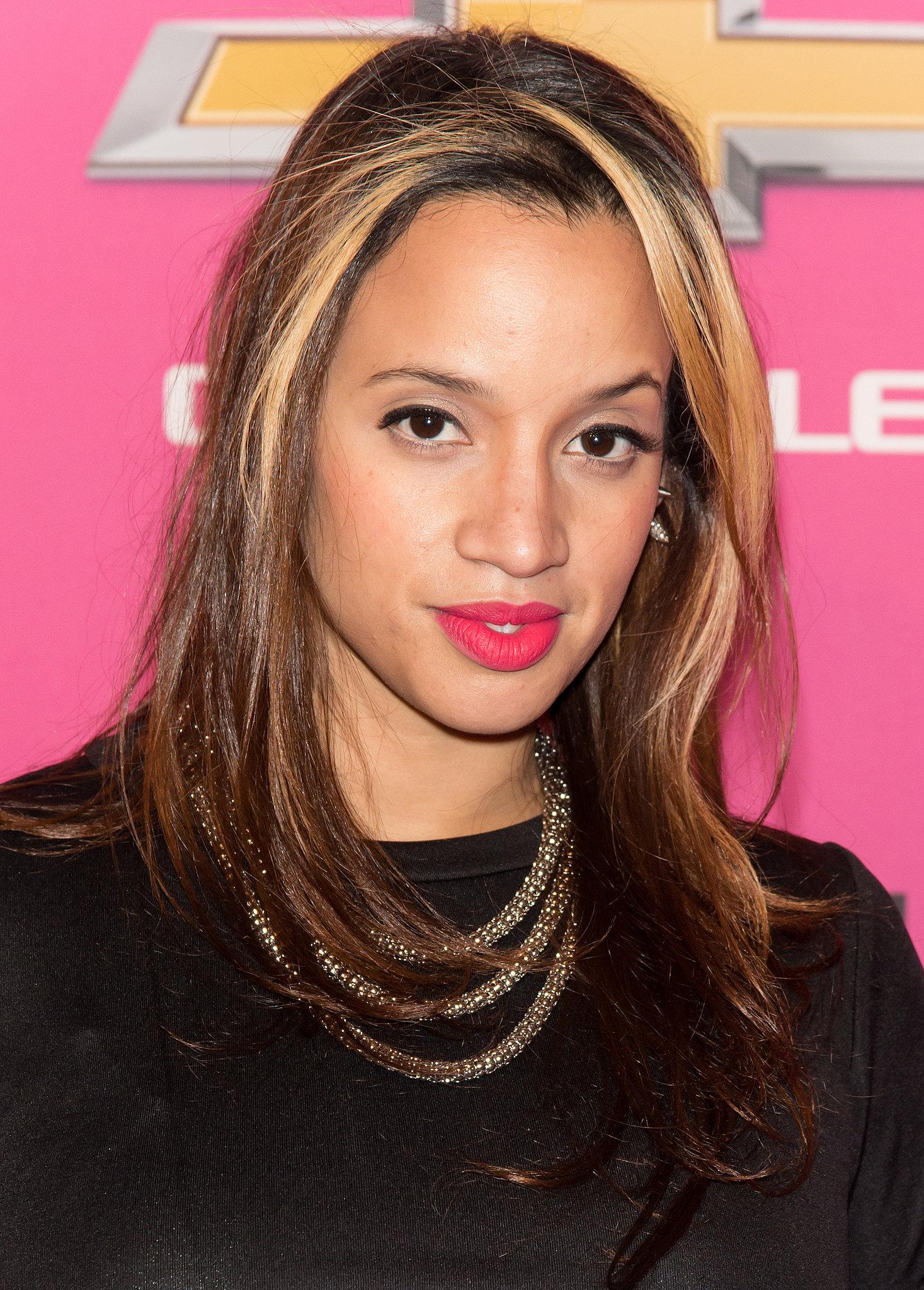 Orange Is the New Black star Dascha Polanco showed off a pop of magenta across her lips.