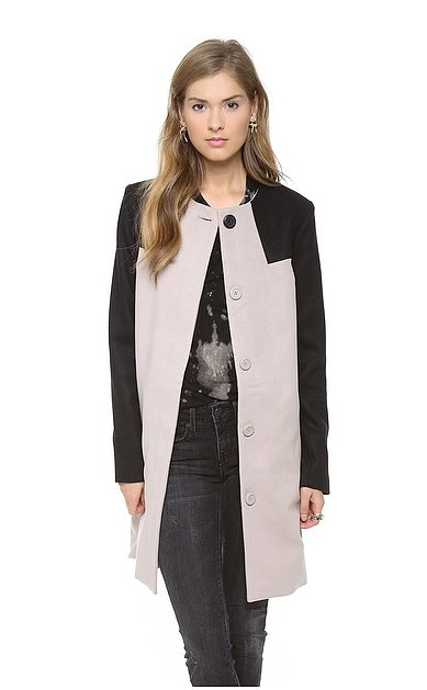 We love the ladylike feel of this BB Dakota Hana Colorblock Coat ($118).