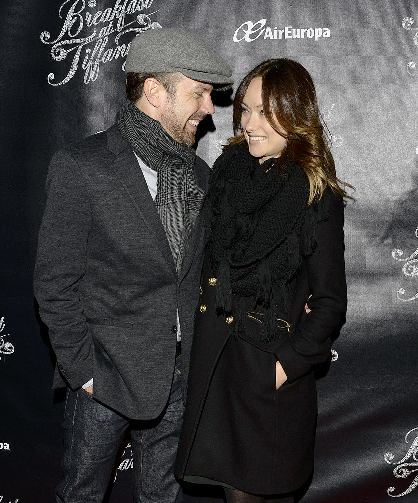 Olivia Wilde and Jason Sudeikis had the look of love at the opening night of Breakfast at Tiffany's on Broadway in March 2013.