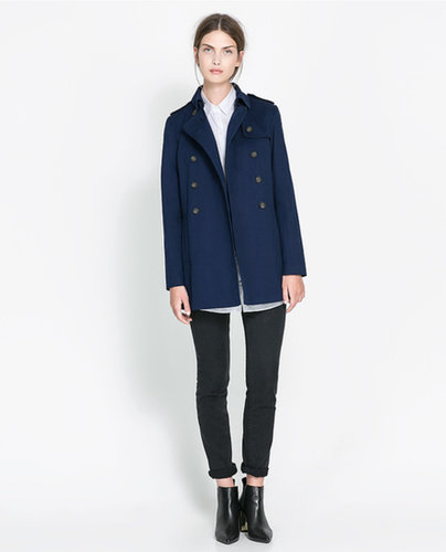 Short Crossover Trench Coat