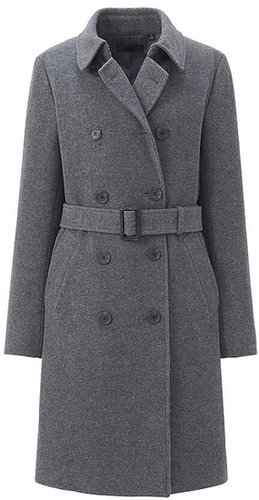 Women Wool Blended Trench Coat