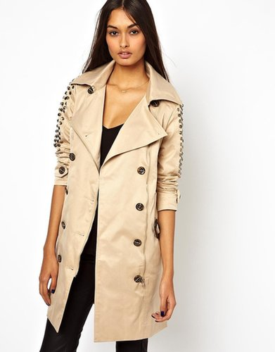 Jovonnista Trench With Studded Sleeves