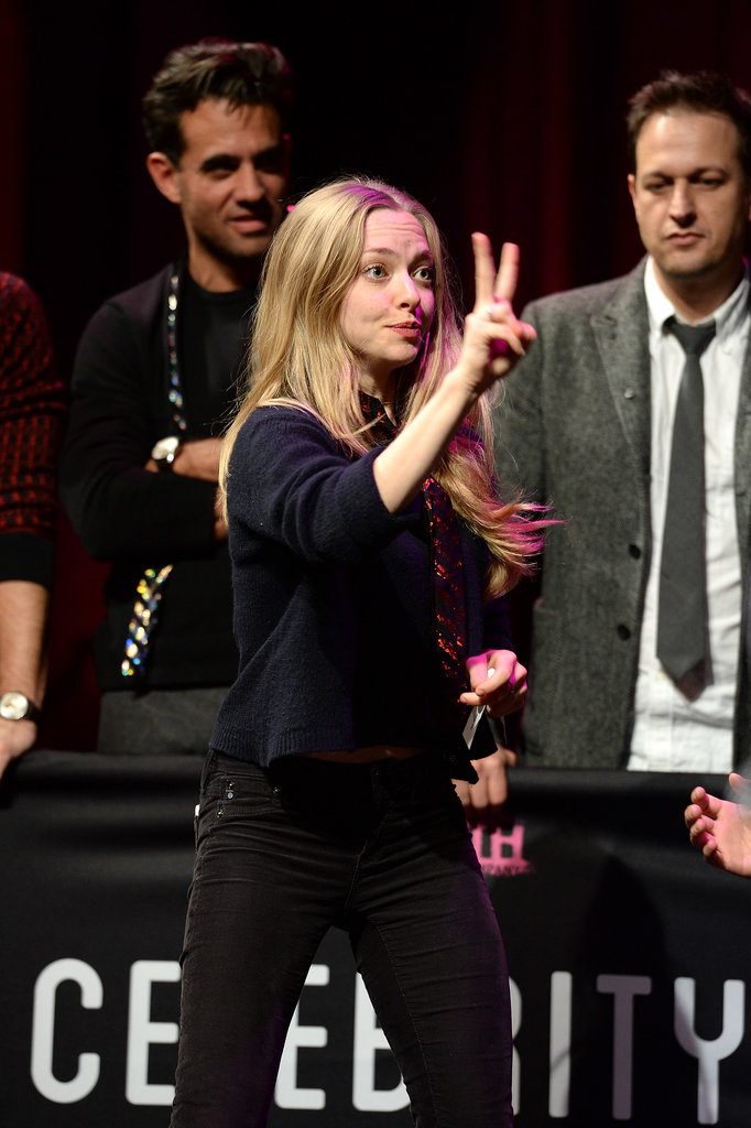Amanda Seyfried got into a competitive spirit with a game of charades.