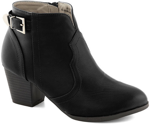 Garage Band Together Bootie in Black