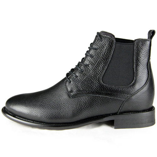 Black men best elevator boots that make you taller 8cm / 3.15inch