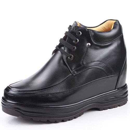 Black men designer elevator boots that make you taller 13cm / 5.12inches