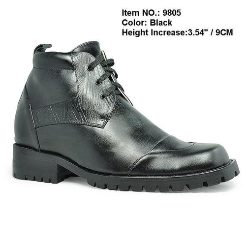 Black men tall boots that make you taller 9cm / 3.54inch
