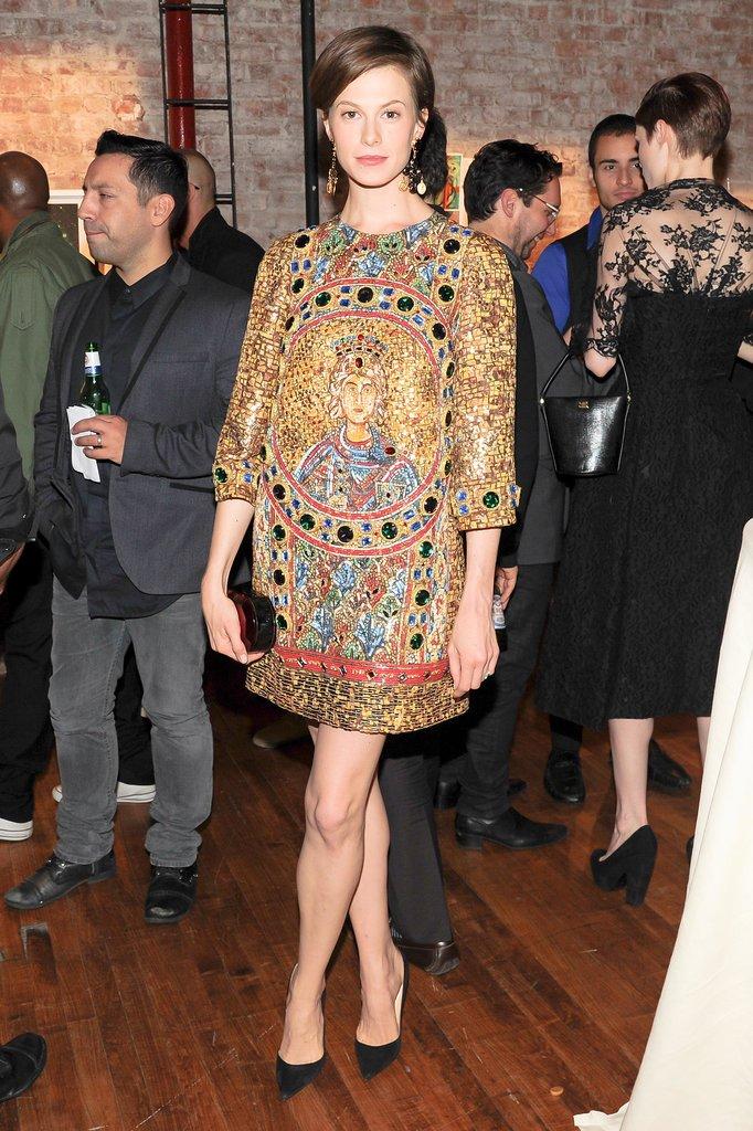 Elettra Wiedemann glowed in Dolce & Gabbana's design at the label's New York benefit.