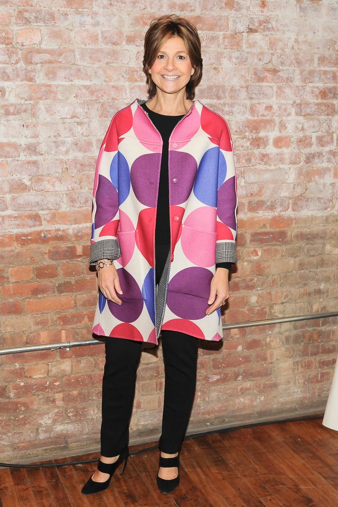 Lisa Perry joined Artwalk in a polka-dot coat.