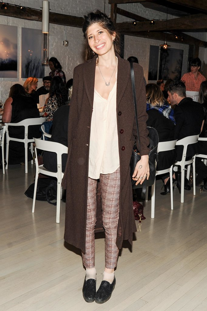 Pamela Love layered autumnal separates at ABC Kitchen for the Lexus bash.