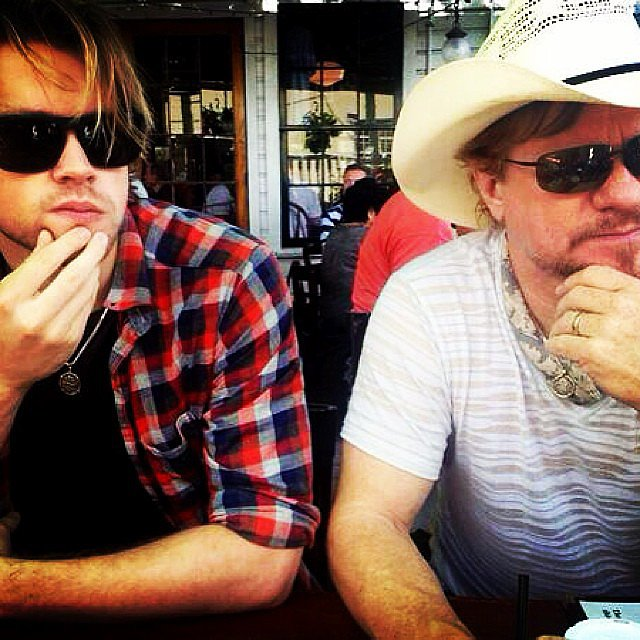 Chord Overstreet bore a striking resemblance to his dad, Paul. Source: Instagram user chordover