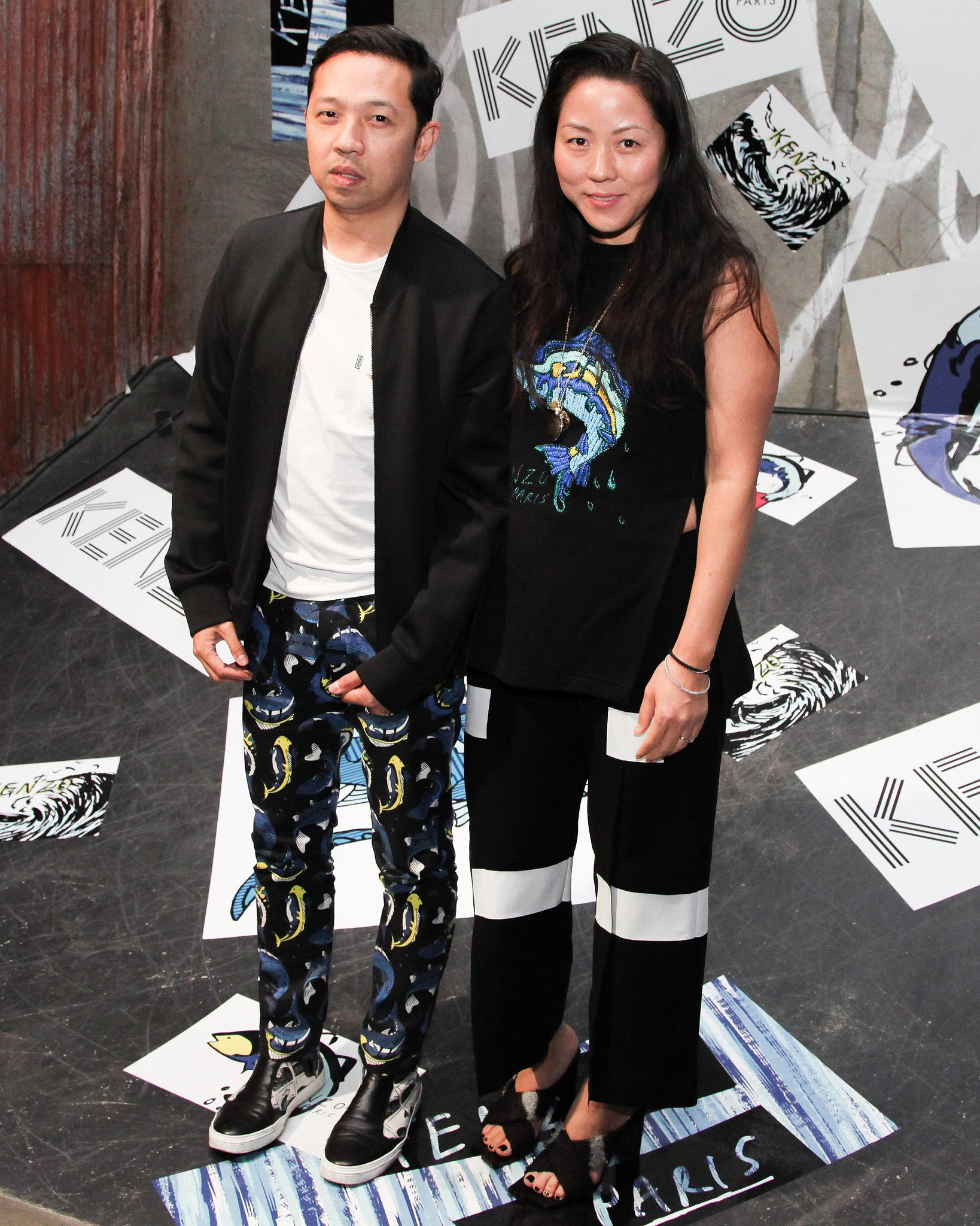 Kenzo's Umberto Leon and Carol Lim joined the revelers at the label's LA dinner.