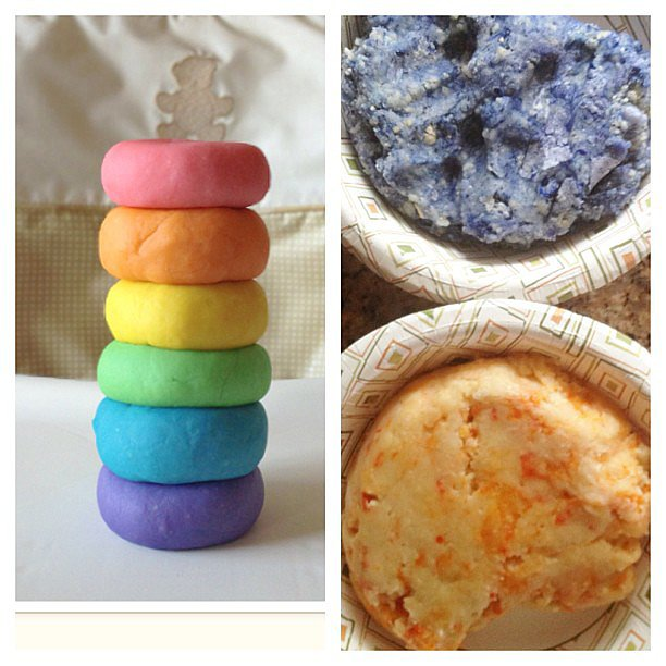 When you try to make colored play dough, but you get a quiche look-alike. Source: Instagram user cyn_de