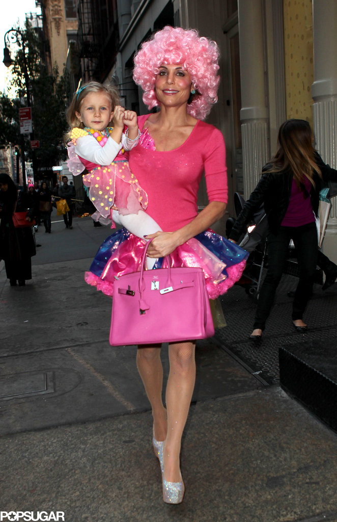 Bethenny Frankel wore a colorful getup for Halloween.