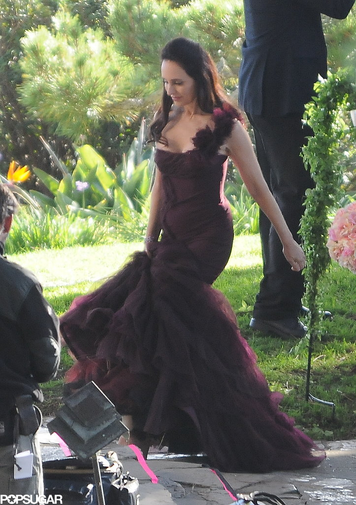 Madeleine Stowe got dressed up for Revenge's big wedding scene in LA on Tuesday.