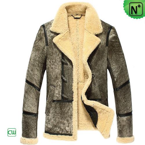 Leather Sheepskin Jacket for Men CW878123