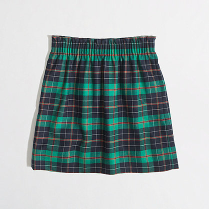 Factory pleated mini in tartan