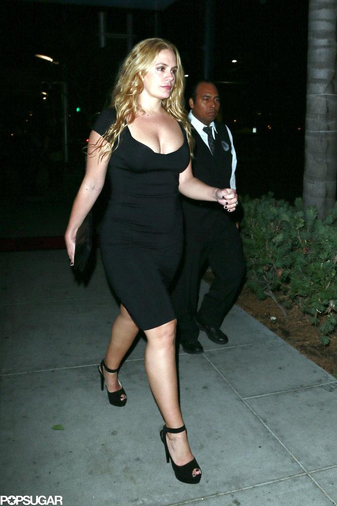 CaCee Cobb wore a black dress.