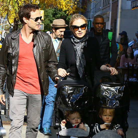 Anna Paquin and Stephen Moyer Walk Twins in NYC