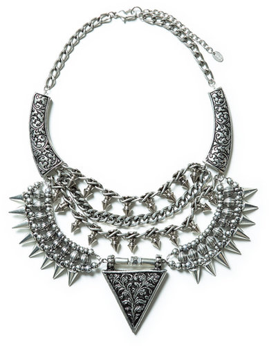 Triangular Studded Necklace