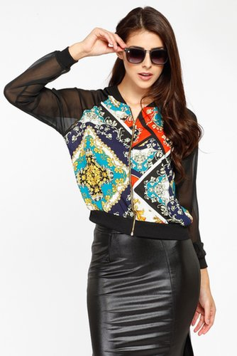Baroque Filligree Print Jacket