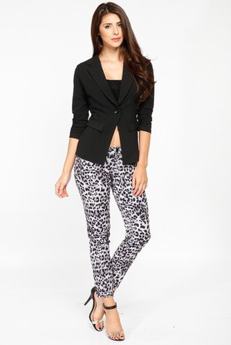 Black Half Sleeved Blazer