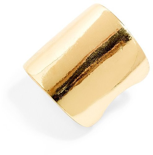 Bold Gold Shield Ring