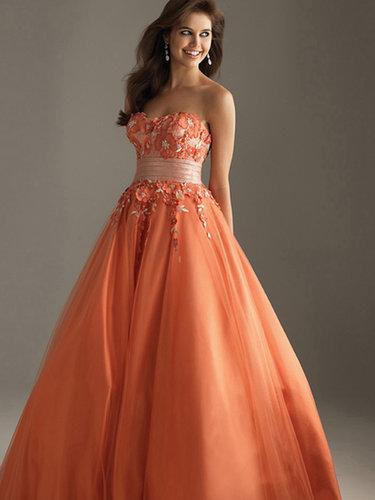 Empire Strapless Tulle Floor-length Sleeveless Flower(s) Prom Dresses at sweetquinceaneradress.com