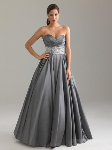 A-line Sweetheart Taffeta Floor-length Crystal Detailing Prom Dresses at sweetquinceaneradress.com