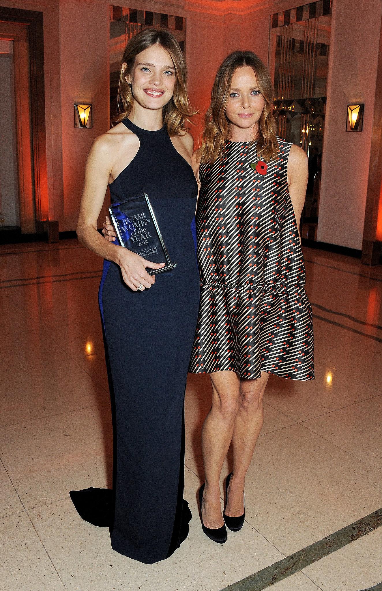 Stella McCartney presented Natalia Vodianova with her Philanthropist of the Year Award at Harper's Bazaar UK's event.