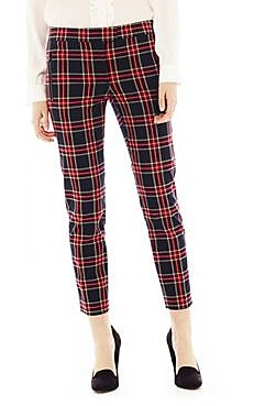 These Joe Fresh cropped plaid pants ($49) will look perfec