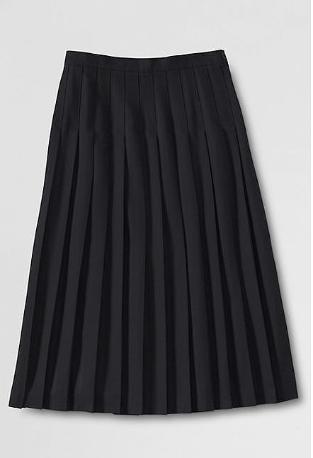 Lands' End solid long pleated skirt ($45) was made for your sweet sweaters.