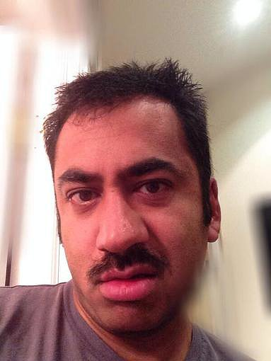 Kal penn shared a series of hilarious selfies before shaving off his