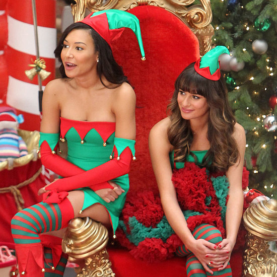 Glee Stars Dressed as Elves in Christmas Episode