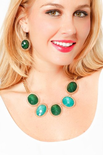 Glam Gem Necklace Set - New Accessories