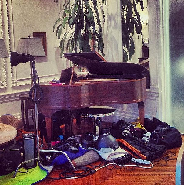 We know there's a piano under that camera equipment, somewhere! Source: Instagram user bat_gio