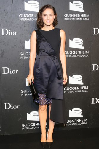 Natalie Portman in Asymmetric Dior Cocktail Dress