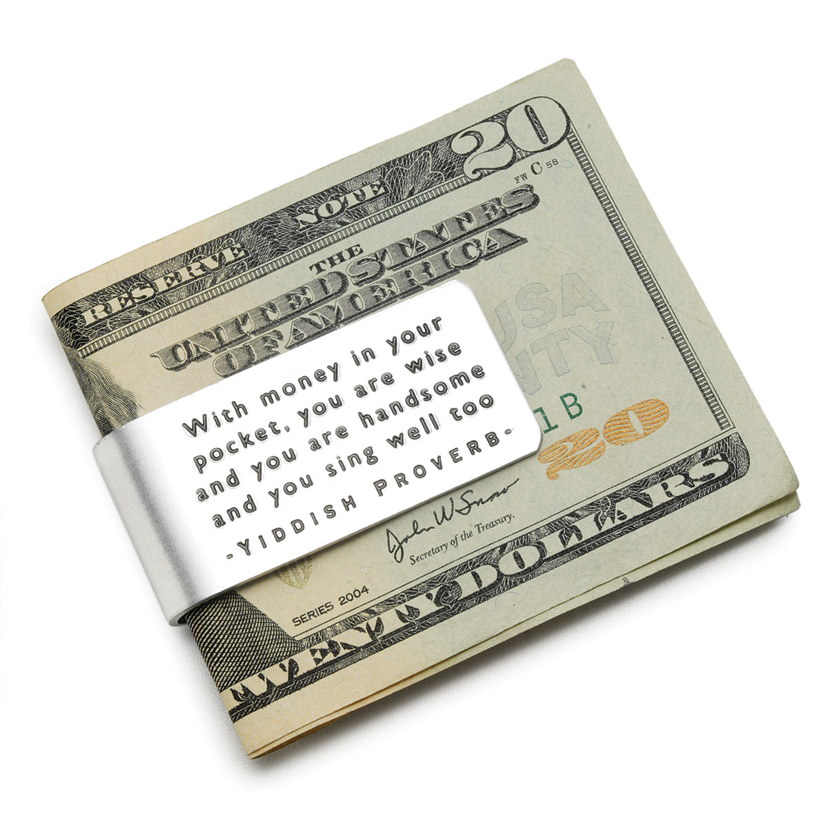 Yiddish Proverb Money Clip