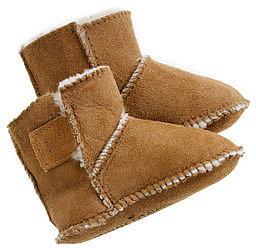 Minnetonka® baby shearling booties