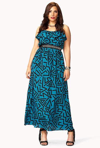 FOREVER 21+ Retro Geo Maxi Dress