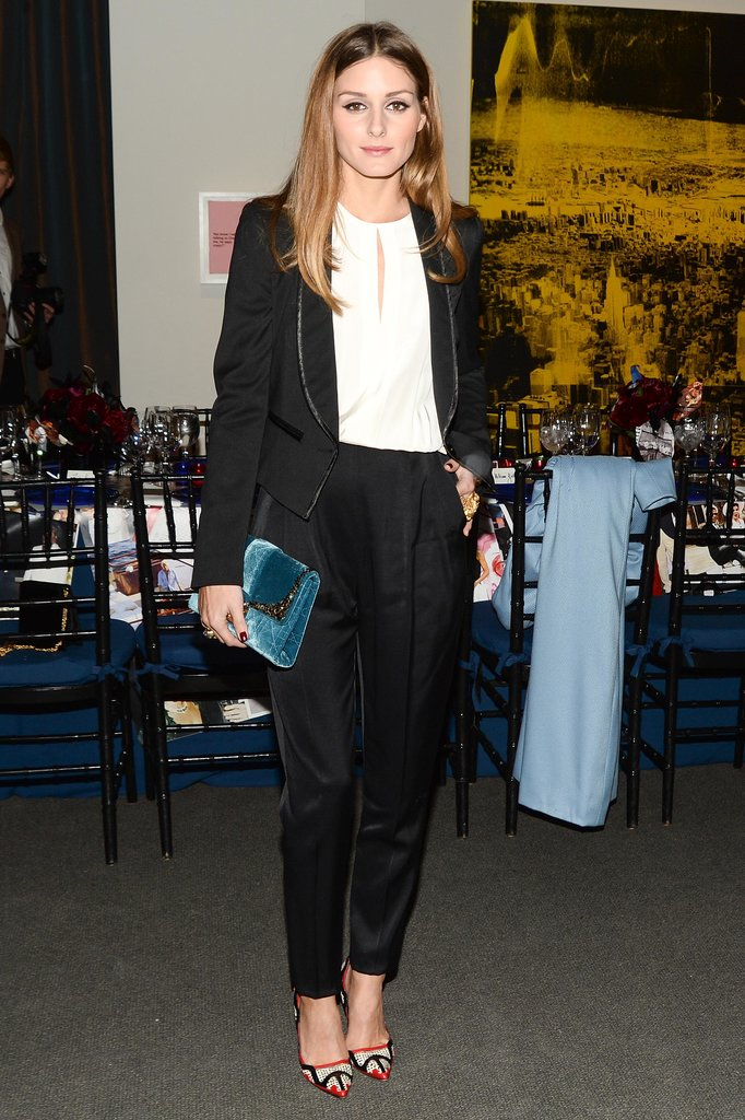 Olivia Palermo at Sotheby's.