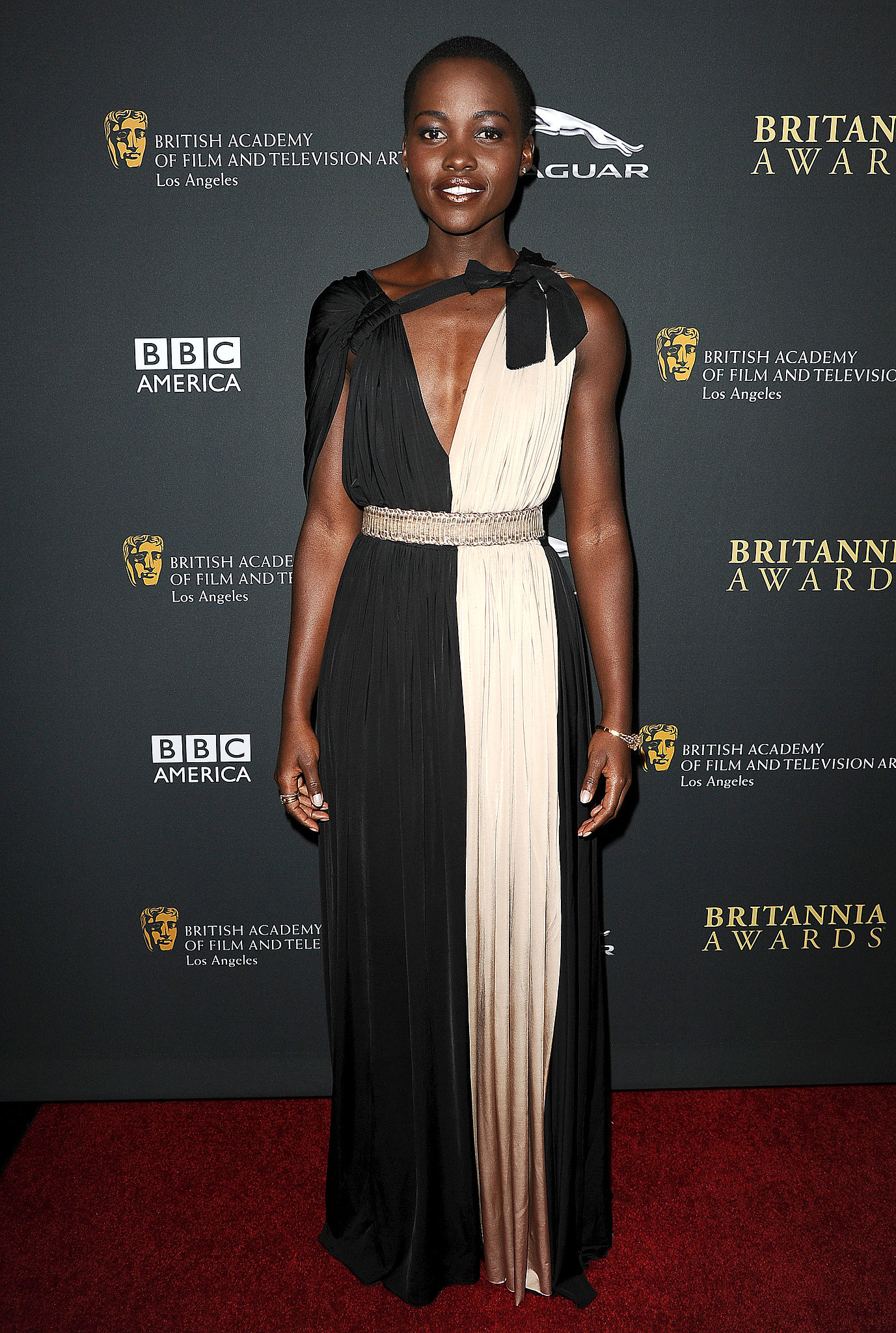 Lupita Nyong'o at the BAFTA Britannia Awards.
