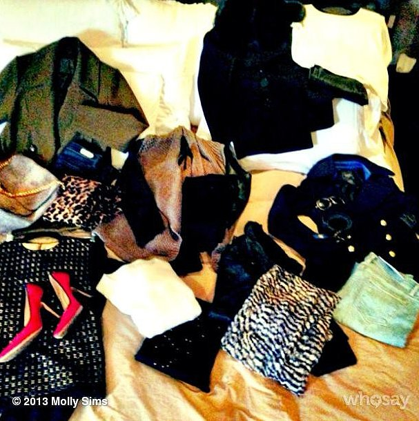. . . and Molly Sims doesn't travel light. Source: Instagram user mollybsims