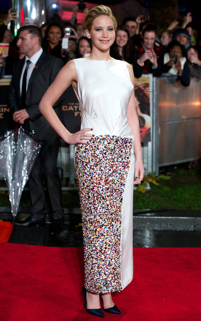 Jennifer Lawrence worked her stuff on the red carpet.