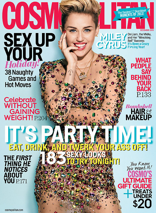 Just eight months after landing her first Cosmopolitan cover, Miley Cyrus was back on the magazine for their December issue. In her interview, Miley revealed that she isn't going to sit around and cry over her broken relationship with Liam Hemsworth, especially because her music career is just starting to take off.
