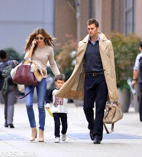 Gisele Bundchen and Tom Brady in NYC With Benjamin