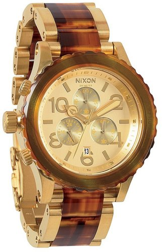 Nixon 'The 42-20 Chrono' Acetate & Rose Gold Watch