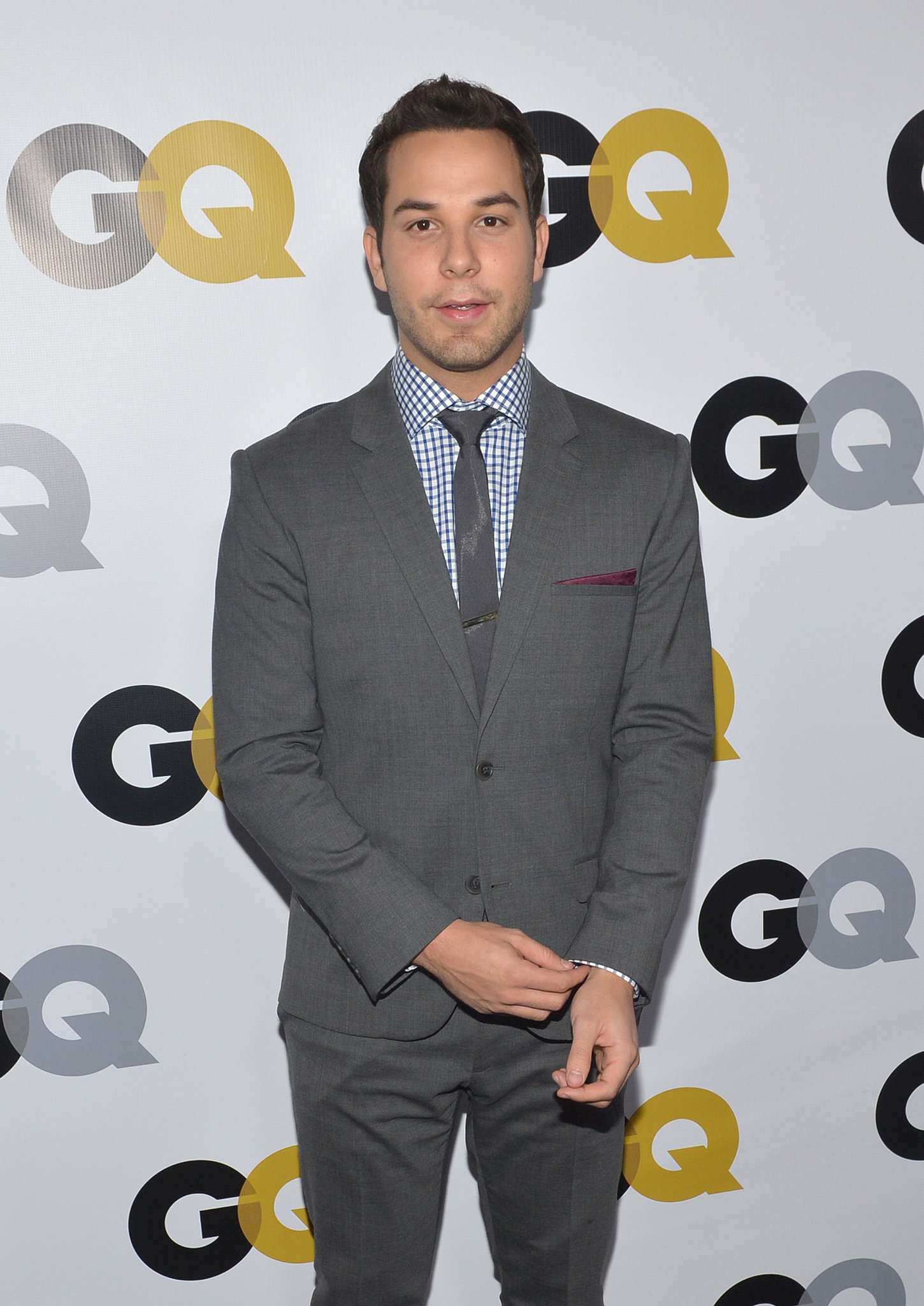 Skylar Astin arrived for the GQ Men of the Year party in LA.